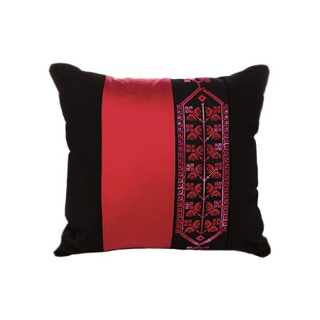 Bedouin Hand Embroidered Pillow Cover - Red
