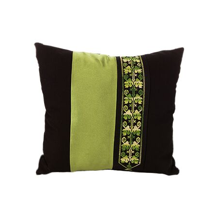 Bedouin Hand Embroidered Pillow Cover – Green