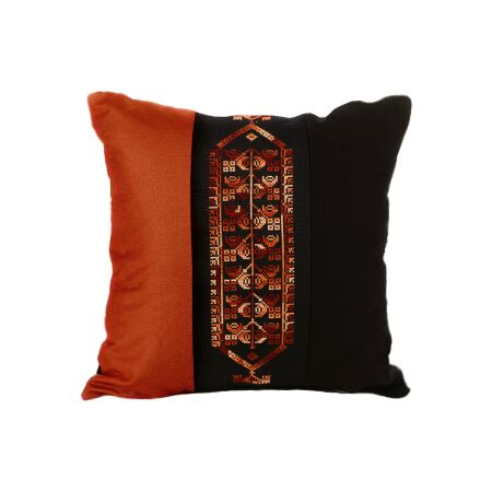 Bedouin Hand Embroidered Pillow Cover - Rust