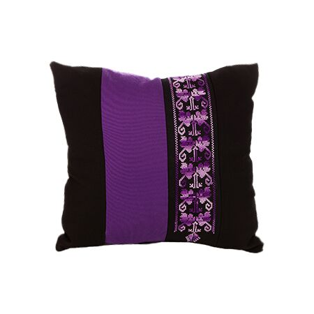 Bedouin Hand Embroidered Pillow Cover - Purple